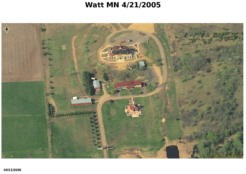 Aerial View of Watt Munisotaram from the South, April 2005