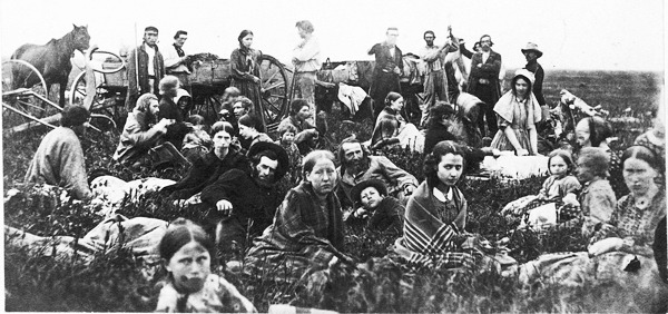 Dakota Refugees in 1862