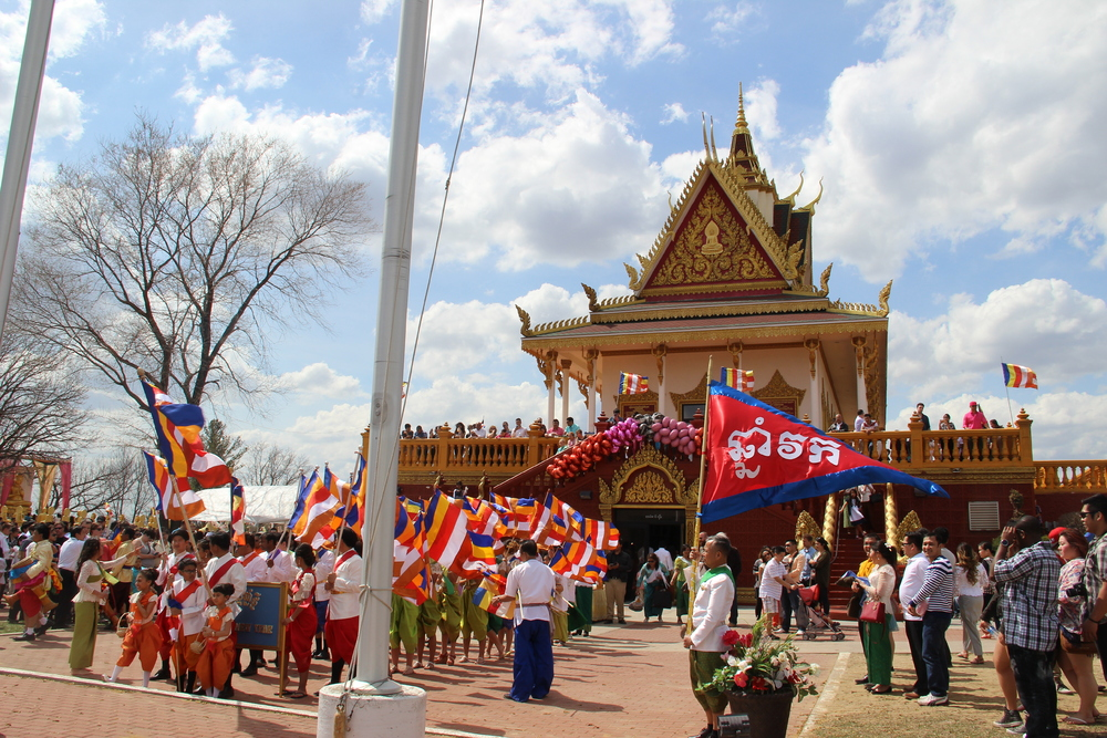 Procession in Front of Temple
