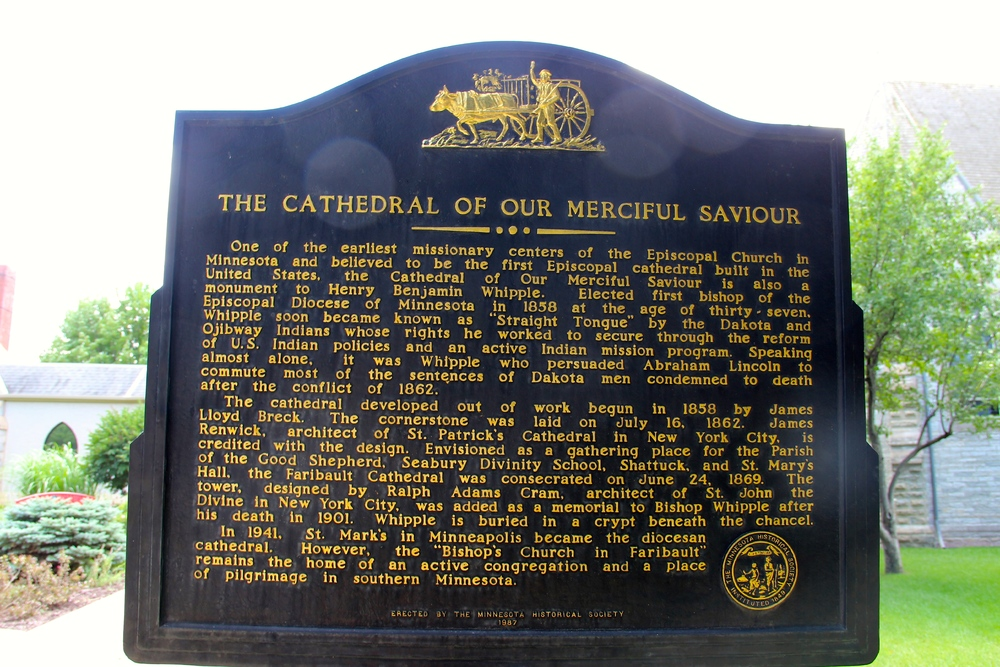 Plaque Outside Cathedral of Our Merciful Savior