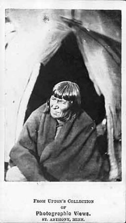 Chief Hushasha imprisoned at Fort Snelling in 1862.<br />