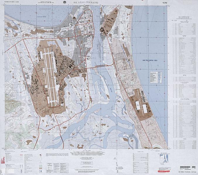 US Army Map of Da Nang