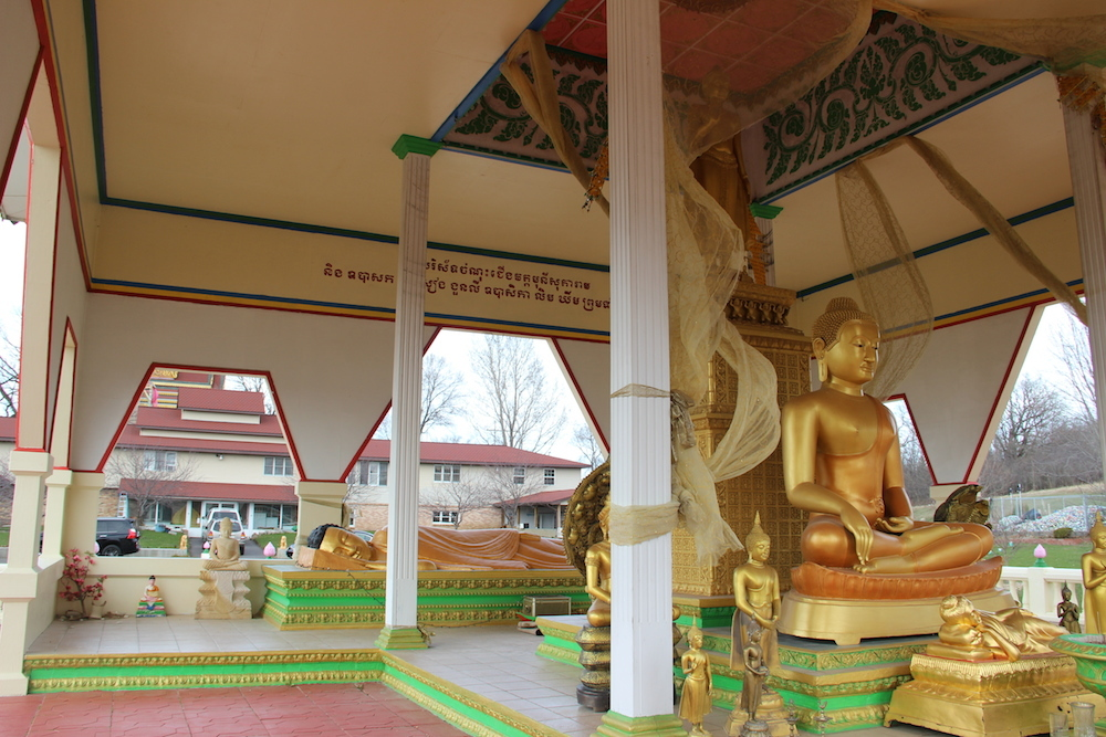 Outdoor Shrine: Bhumisparsha Mudra and Reclining Buddha