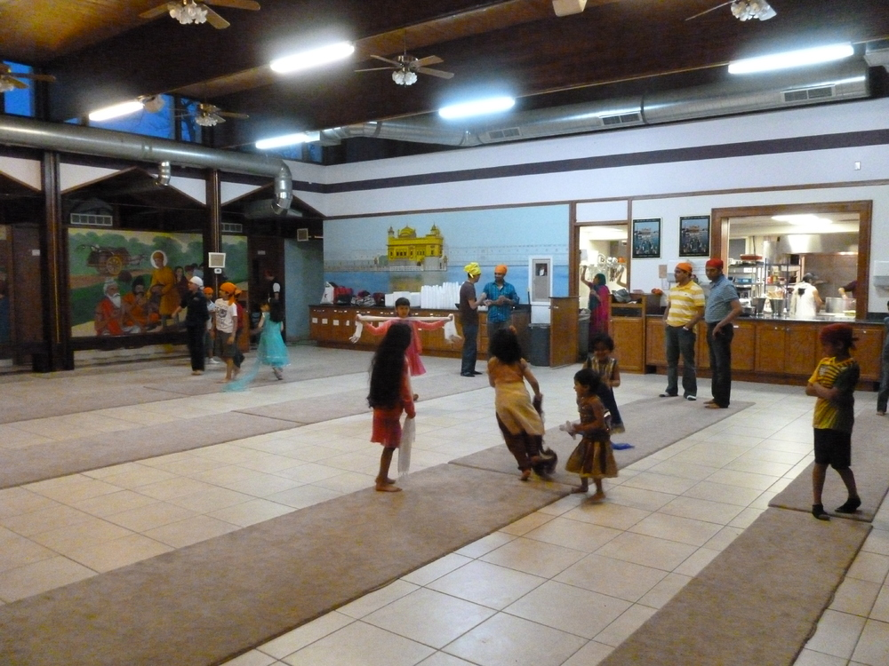 Children Playing in the Hall Outside of Worship Services at the Sikh Society of MN