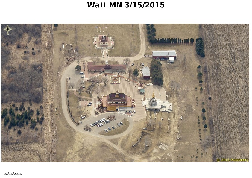 Aerial View of Watt Munisotaram from the North, March 2015