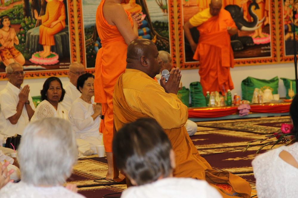 Monk Giving A Speech Visakha Puja 2016