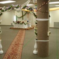 Photograph of Somali wedding decorations