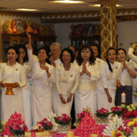 Women With Flowers Visahka Puja 2016