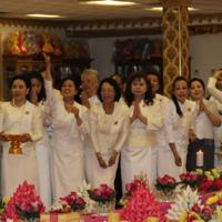 Women With Flowers Visahka Puja 2016