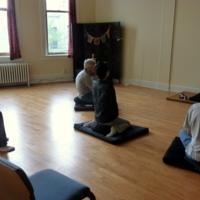 Backs of Heads Meditating 1