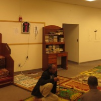 Photograph of men's prayer space in masjid