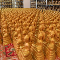 Painted Miniature Buddhas