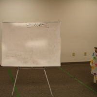Photograph of whiteboard for lessons