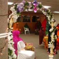 Photograph of arch at Somali wedding