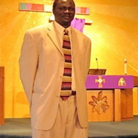 Pastor Wal Reat of the Sudanese Congregation in Faribault